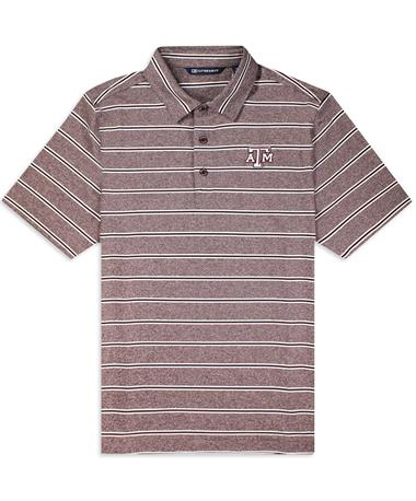 Texas A&M Cutter & Buck Striped Forge Polo
