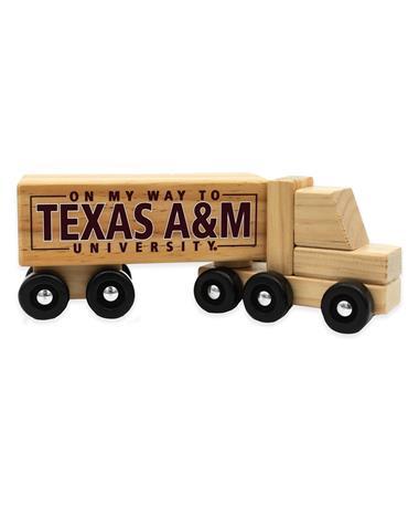 Texas A&M Wooden Semi Truck Toy