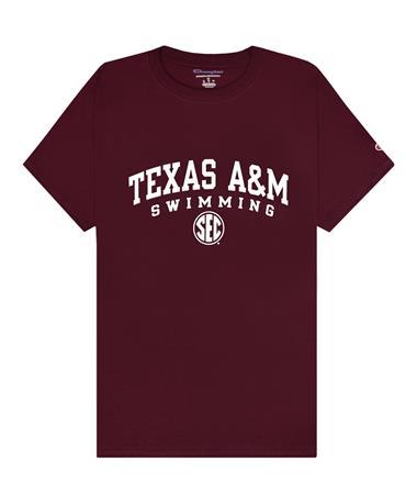 Texas A&M Champion Swimming SEC T-Shirt