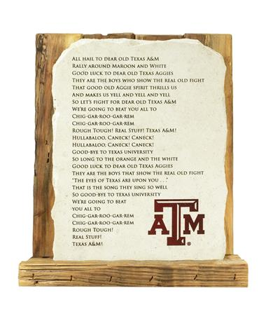 TEXAS AM FIGHT SONG STONE
