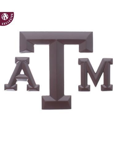 Texas A&M Matte Maroon Block Emblem