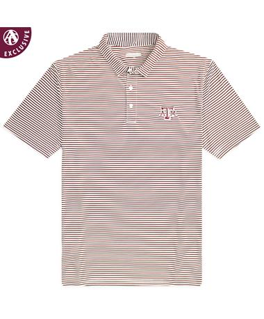 Texas A&M Striped Performance Polo