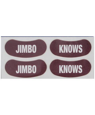 Jimbo Knows Temporary Maroon Eye Blacks