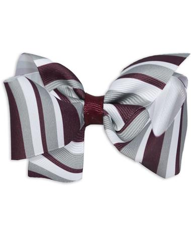 Maroon Striped King Bow