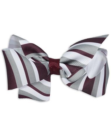 Maroon Medium Stripe Bow