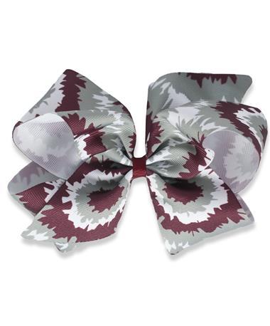 Maroon Tie Dye Medium Bow