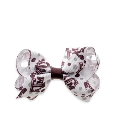 Texas A&M Mini Print Bow