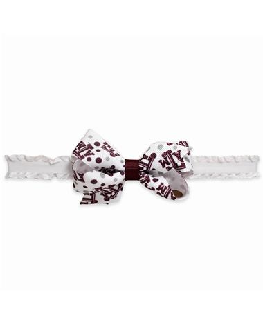 Texas A&M Mini Print Bow Headband