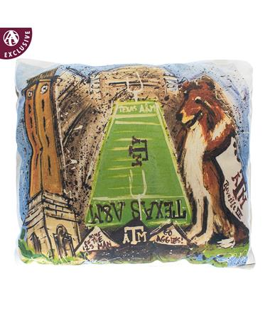 Texas A&M Heidi Hensley Art Pillow