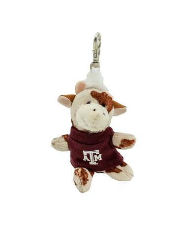 Wild Bunch Maroon Tee Cow Keytag
