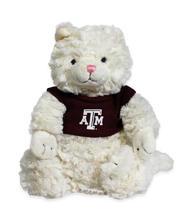 Texas A&M Fuzzy Bunch Cat Stuffed Animal
