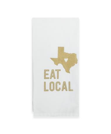 Eat Local Texas Tea Towel