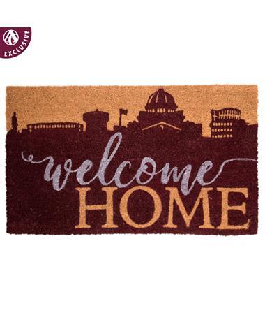 Welcome Home College Station Skyline Doormat