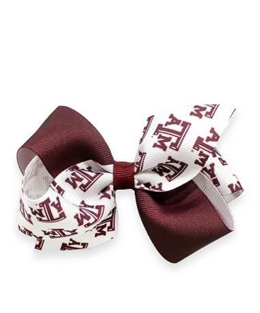 Texas A&M Small Grosgrain Bow