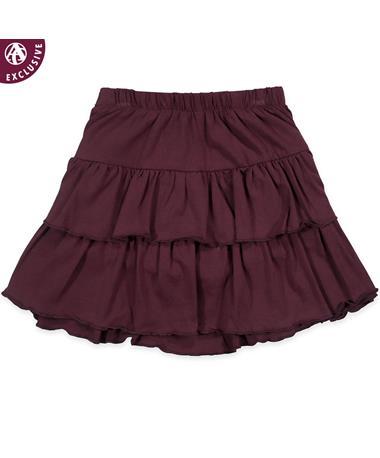 Maroon Toddler Tiered Ruffle Skirt