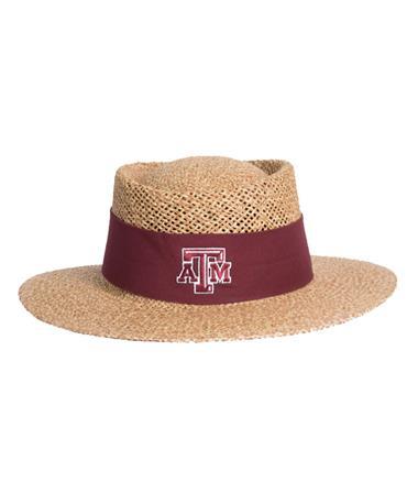 Texas A&M Tournament Straw Gambler Hat
