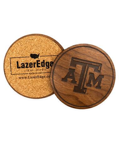 Texas A&M Beveled Logo Coasters