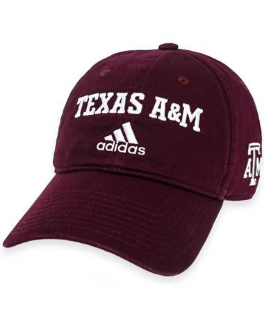 Texas A&M Adidas Wordmark Cotton Slouch Cap