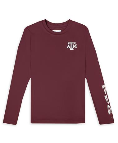 Texas A&M Columbia PFG Youth Terminal Tackle Long Sleeve