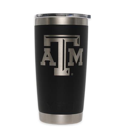 Texas A&M Yeti 20oz Black Tumbler