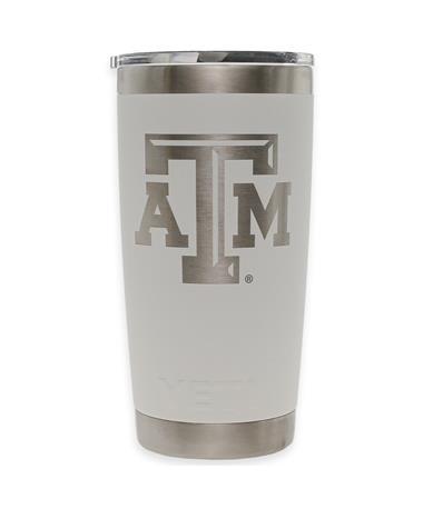 Texas A&M Yeti 20oz White Tumbler