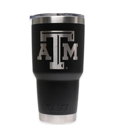 Texas A&M Yeti 30oz Black Tumbler