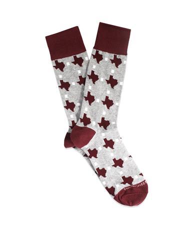 Maroon Texas Pride Socks