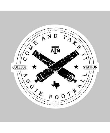 Texas A&M Come and Take it Aggie Football Dizzler Sticker