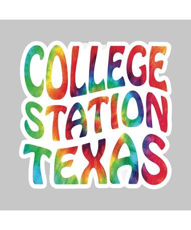 Tie-Dye College Station Dizzler Sticker