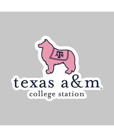 Texas A&M Reveille Vineyard Dizzler Sticker
