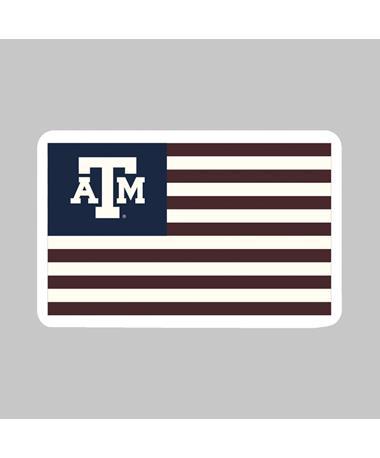 Texas A&M American Flag Dizzler Sticker