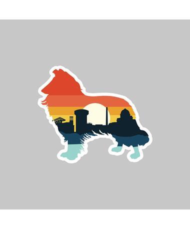 Texas A&M Reveille Sunrise Skyline Dizzler Sticker