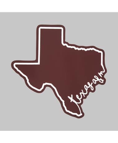 Texas A&M Script Dizzler Sticker