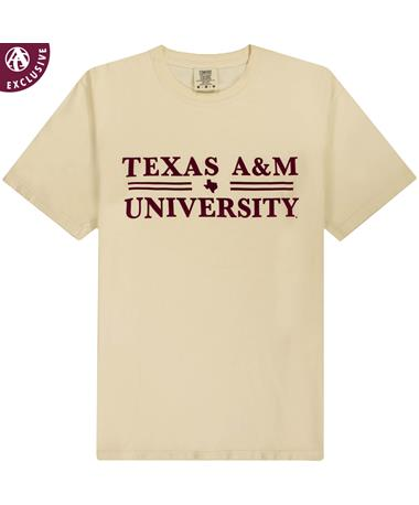 Texas A&M Double Line Cream T-Shirt