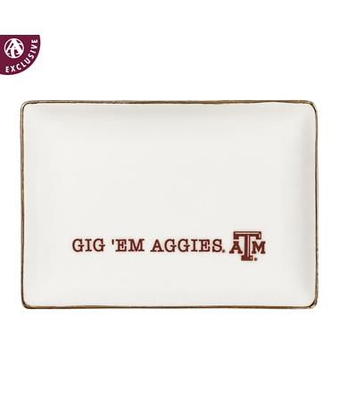 Texas A&M Gig' Em Aggies Ring Dish