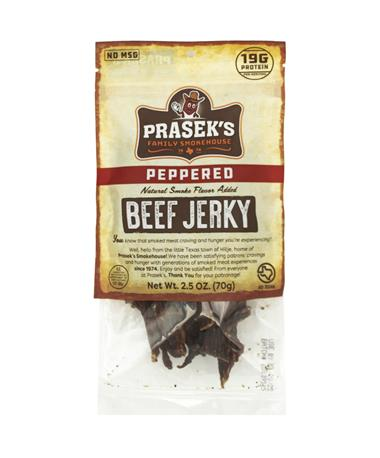 Prasek's SmokeHouse Peppered Beef Jerky