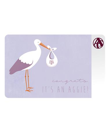 Aggieland Outfitters Congrats Aggie Stork E-Gift Card