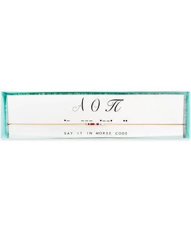 Alpha Omicron Pi Morse Code Necklace