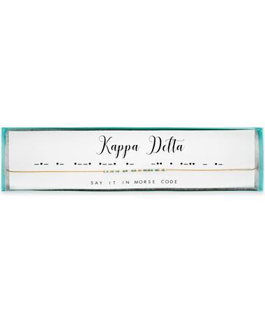 Kappa Delta Morse Code Necklace