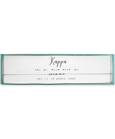 Kappa Kappa Gamma Morse Code Necklace