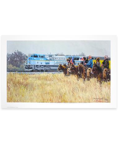 Benjamin Knox 4141 Train Limited Edition Large Print