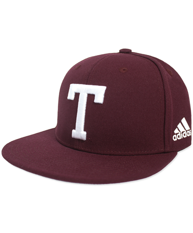 Texas A&M Adidas Fitted Block T Baseball Cap