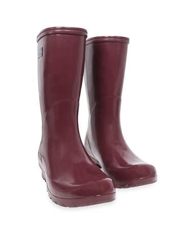 Maroon Mid Height Roma Rain Boots
