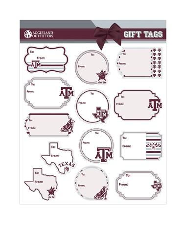 Texas A&M Gift Tag Sticker Sheet