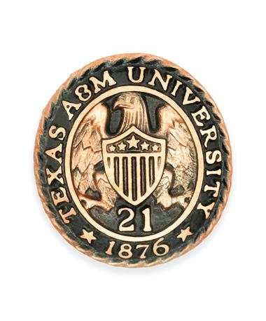 Texas A&M Aggie Ring Crest Paperweight '21