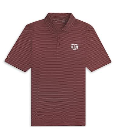 Texas A&M Antigua Quest Stripe Polo