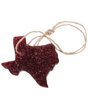 Maroon Texas Strawberry Leather Bead Air Freshener