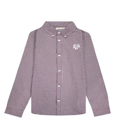 Texas A&M Garb Cole Toddler Woven Gingham Button Down