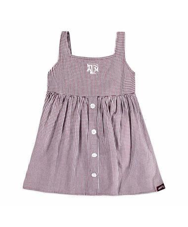 Texas A&M Jillian Toddler Woven Gingham Dress