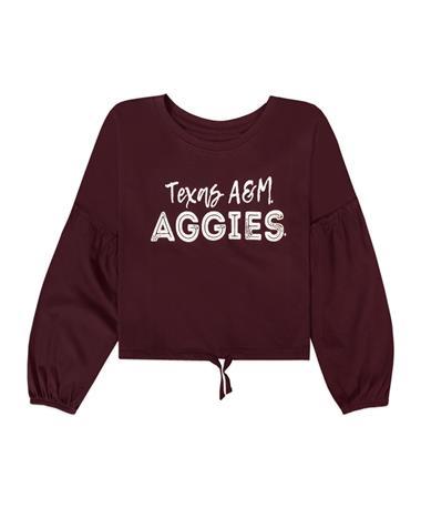 Texas A&M Aggies Garb Zara Youth Crop Top